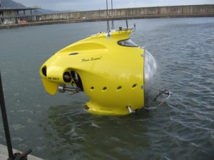 Leisure Submarine Floating On Water
